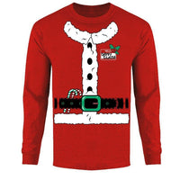 Men's Funny Ugly Christmas Sweater Long Sleeve Shirts-Santa Suit - Red-2XL-Daily Steals