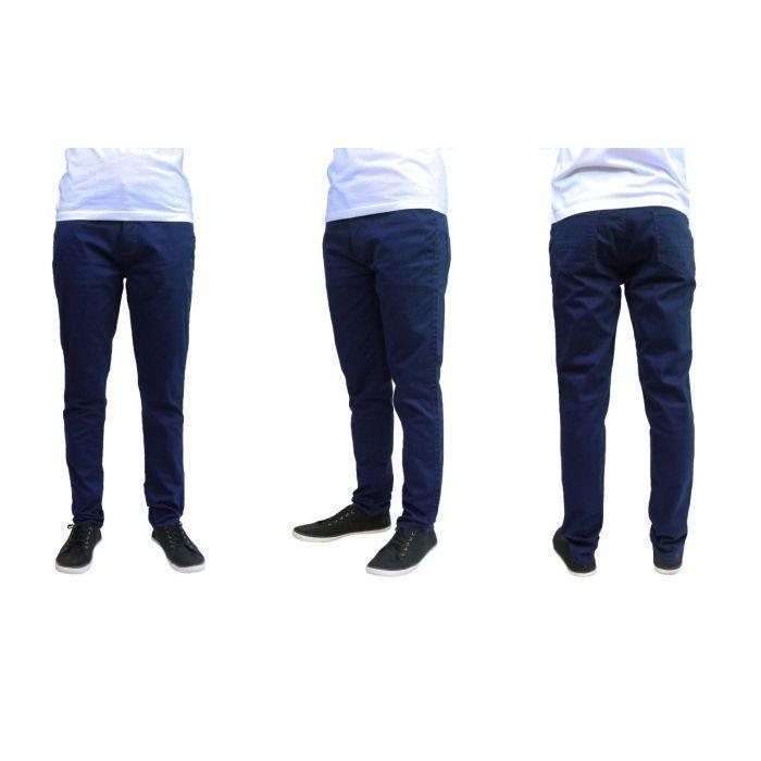 Daily Steals-Men's Galaxy By Harvic Slim Fit Cotton Stretch Chino Pants-Men's Apparel-Navy-30x30-