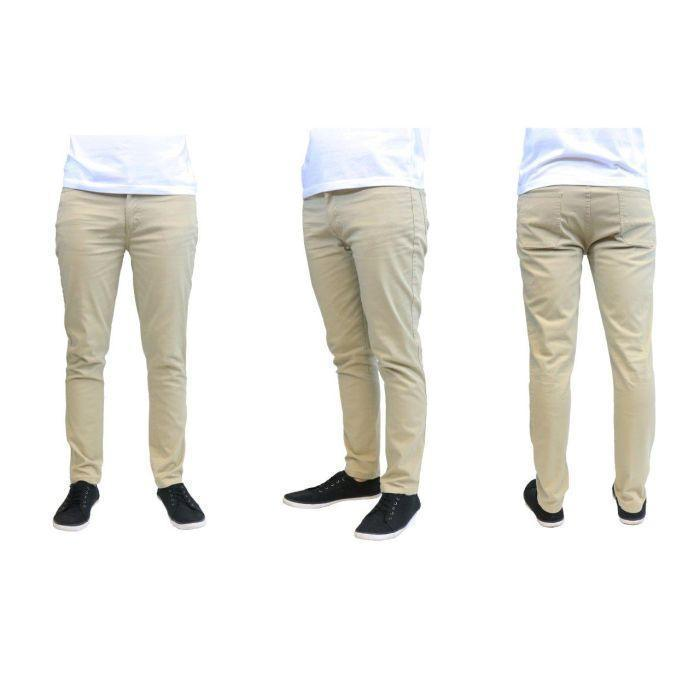 Daily Steals-Men's Galaxy By Harvic Slim Fit Cotton Stretch Chino Pants-Men's Apparel-Timber-30x30-
