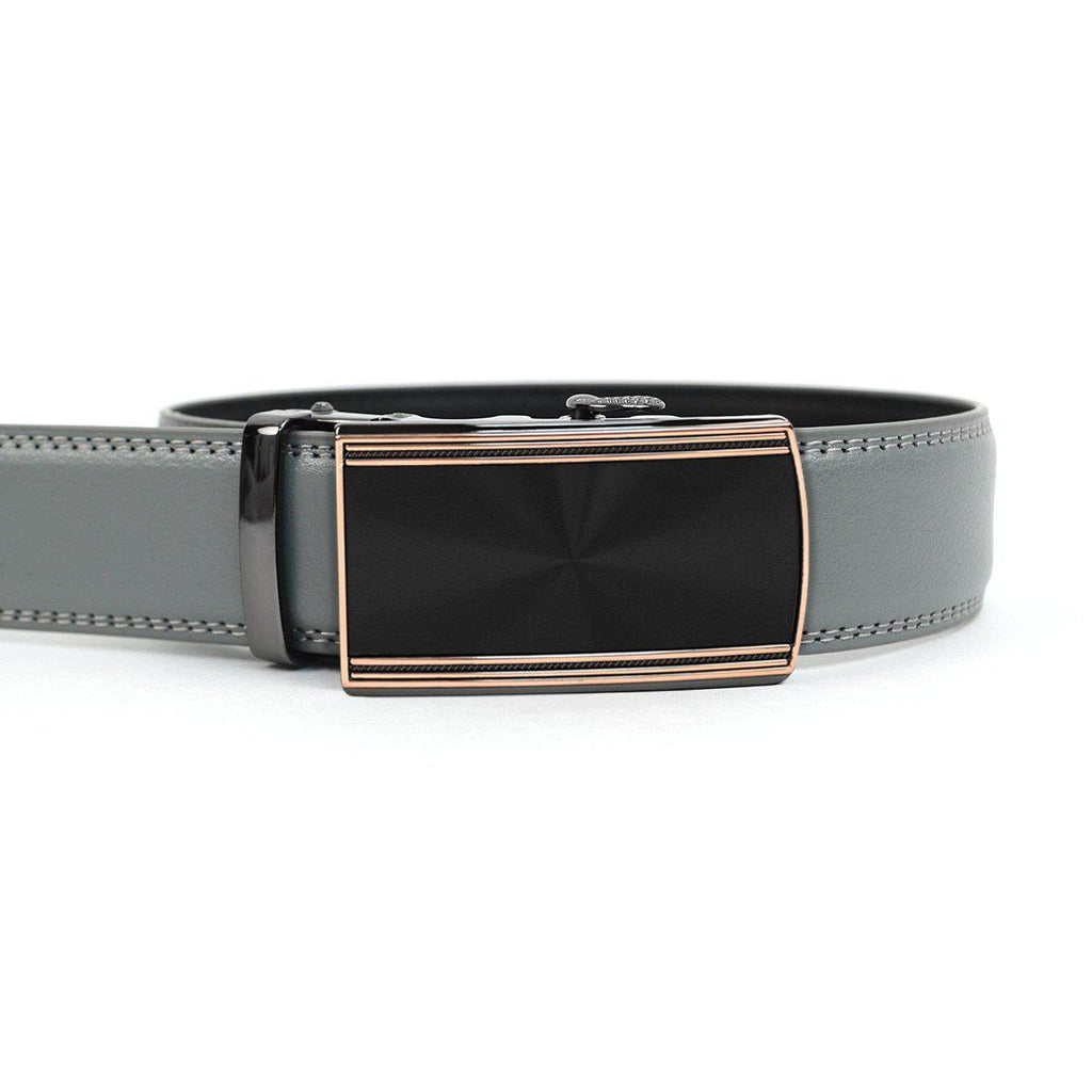 Daily Steals-Men's Genuine Leather Sliding Buckle Ratchet - Buckled Style-Men's Apparel-Buckled-grey-XS-