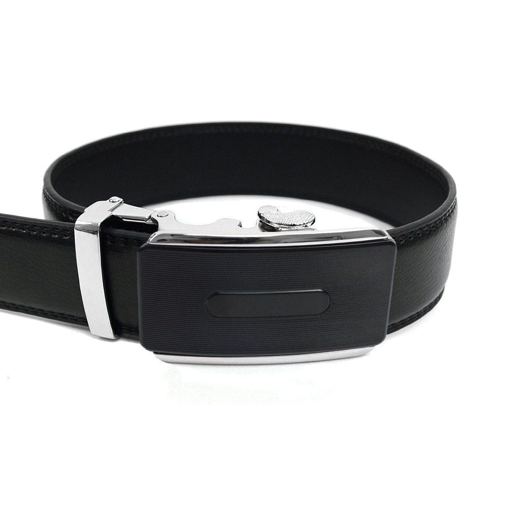 Daily Steals-Men's Genuine Leather Sliding Buckle Ratchet - Sparked Style-Men's Apparel-Sparked-black-XS-