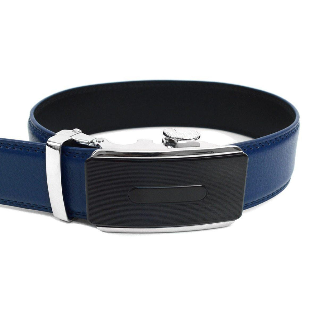 Daily Steals-Men's Genuine Leather Sliding Buckle Ratchet - Sparked Style-Men's Apparel-Sparked-blue-XS-