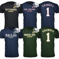 Hombre Grandpa # 1 Awesome Football Helmet T-Shirts-S-Baltimore-