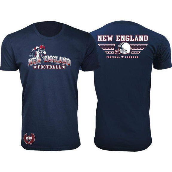 Men's Greatest Football Legends T-Shirts-New England - Navy-S-Daily Steals