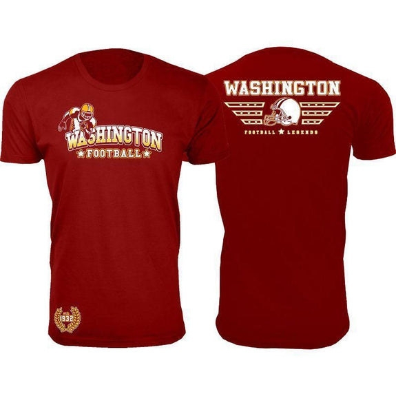 Men's Greatest Football Legends T-Shirts-Washington - Burgundy-M-Daily Steals