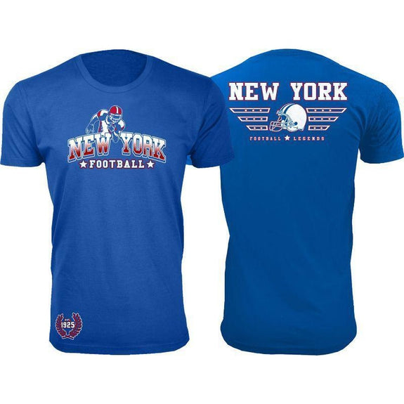 Men's Greatest Football Legends T-Shirts-New York - Royal Blue-S-Daily Steals