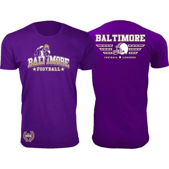 Men's Greatest Football Legends T-Shirts-Baltimore - Purple-S-Daily Steals