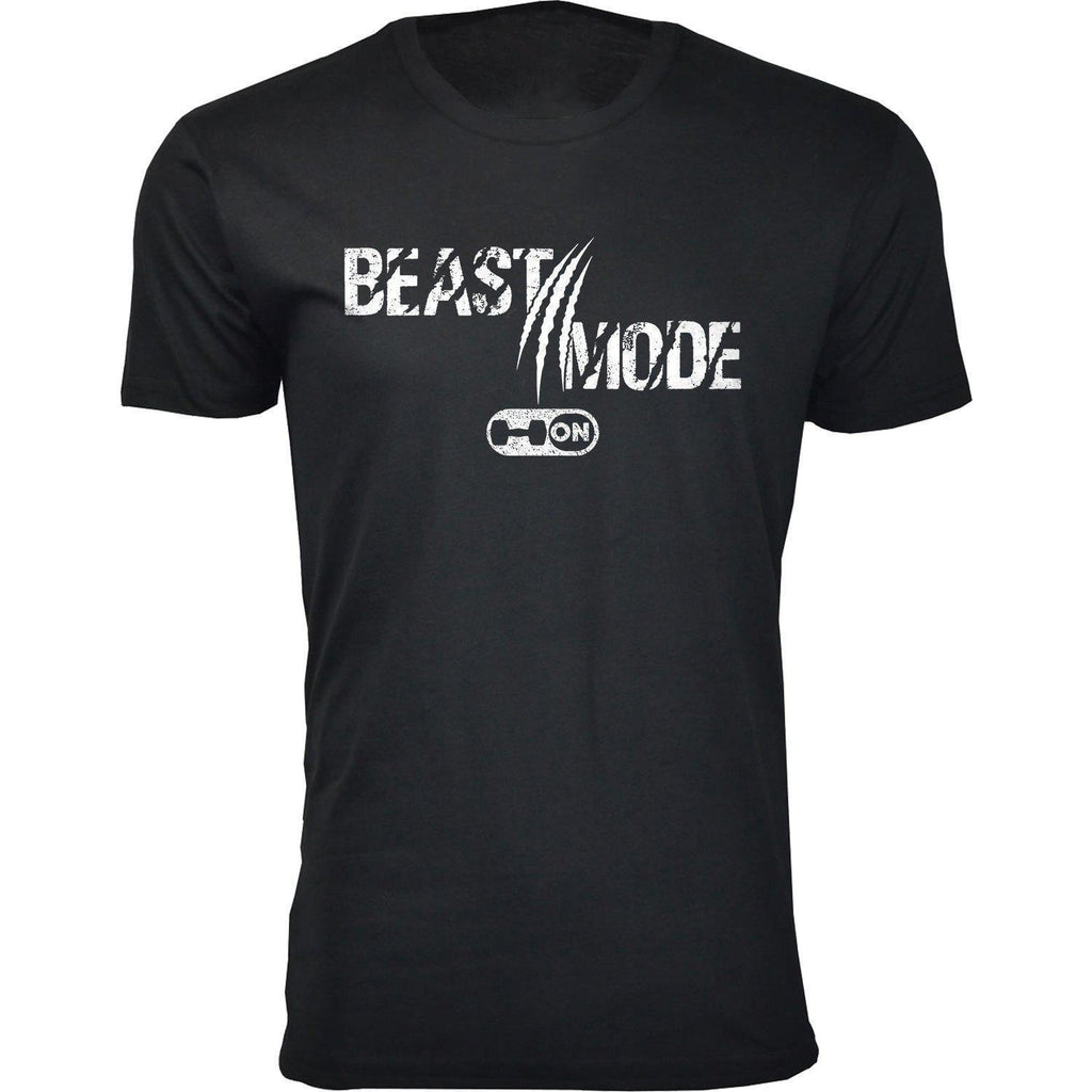 Daily Steals-Men's Gym Workout Beast Mode On Scratch T-shirts-Men's Apparel-Black-2X-Large-