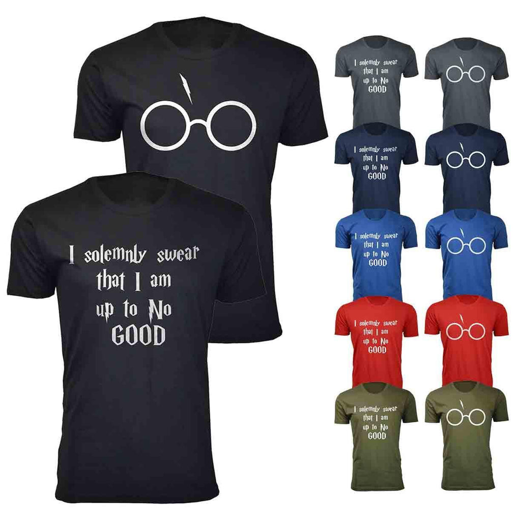 Daily Steals-Men's Harry Potter Themed Humor T-shirts-Men's Apparel-Small-I solemnly swear - Black-