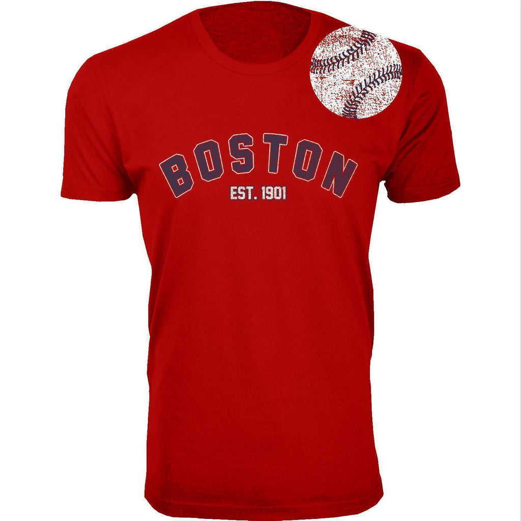 Daily Steals-Men's Home Run Baseball T-shirts-Men's Apparel-2XL-Boston - Red-