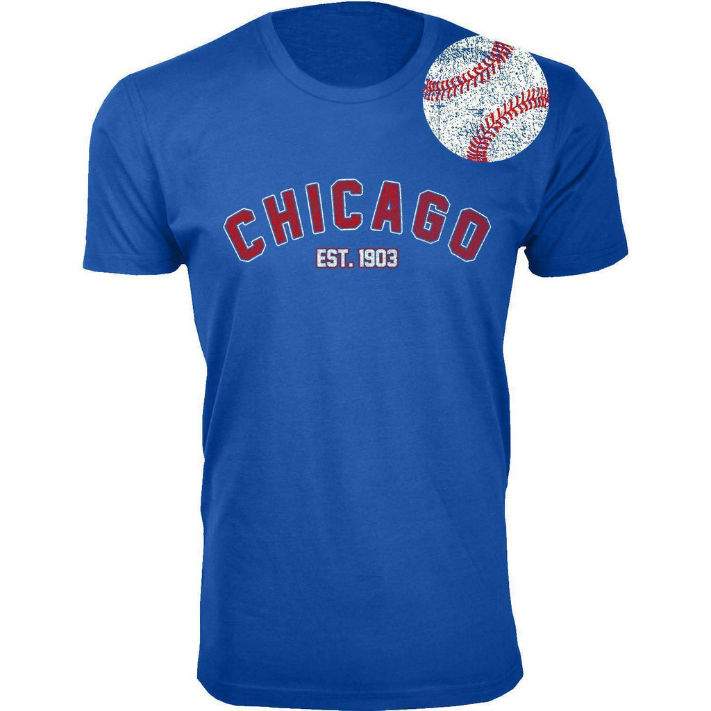 Daily Steals-Men's Home Run Baseball T-shirts-Men's Apparel-2XL-Chicago - Royal Blue-