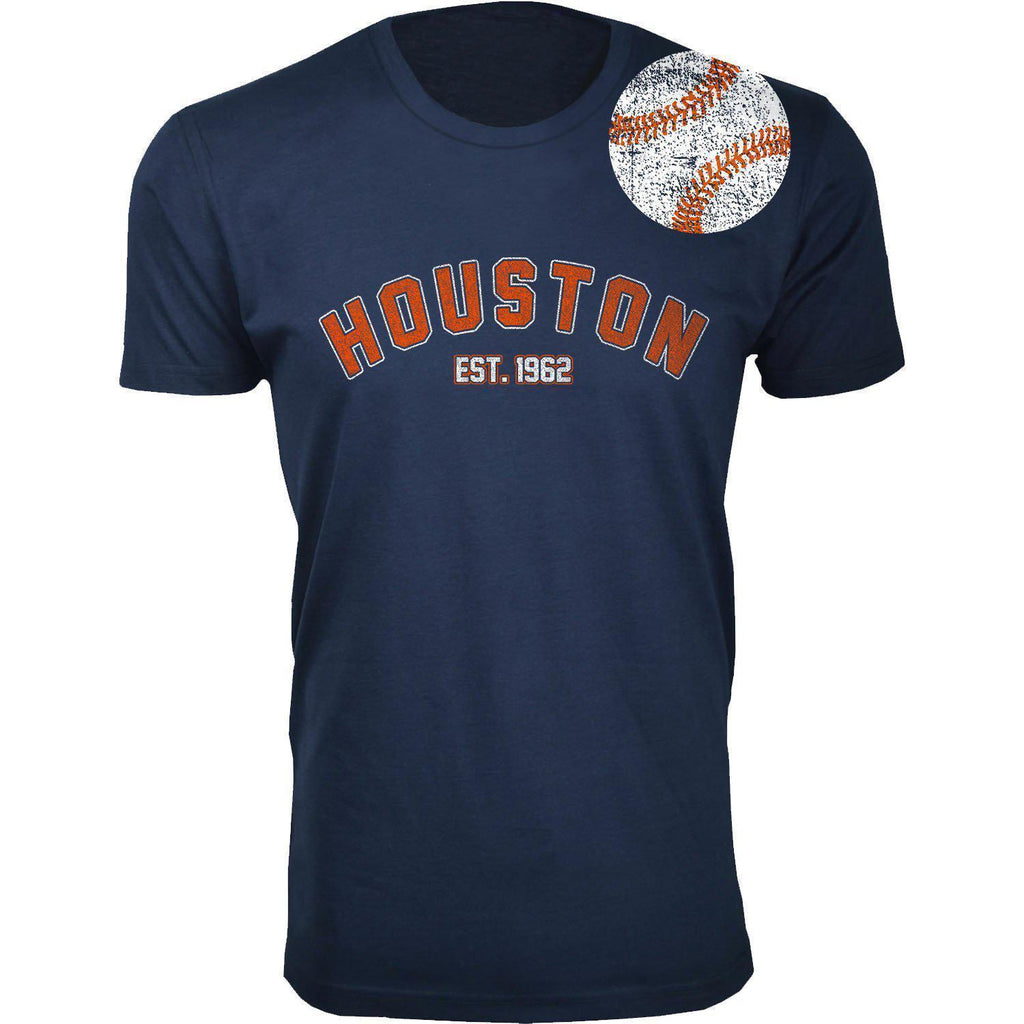 Daily Steals-Men's Home Run Baseball T-shirts-Men's Apparel-2XL-Houston - Navy-