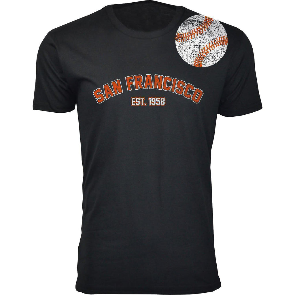 Daily Steals-Men's Home Run Baseball T-shirts-Men's Apparel-2XL-San Francisco - Black-