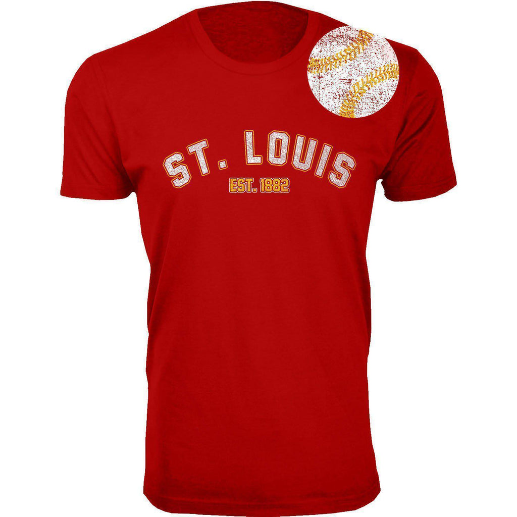 Daily Steals-Men's Home Run Baseball T-shirts-Men's Apparel-2XL-St. Louis - Red-