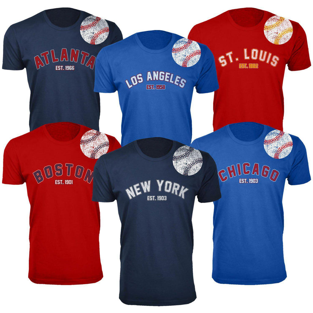Daily Steals-Men's Home Run Baseball T-shirts-Men's Apparel-L-New York - Premium Heather Grey-