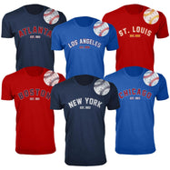 Daily Steals-T-shirts de baseball Home Run pour hommes-Vêtements pour hommes-L-New York - Premium Heather Grey-