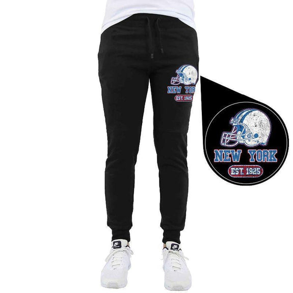 Men's Home Team Football Jogger Sweatpants-New York - Black-M-Daily Steals