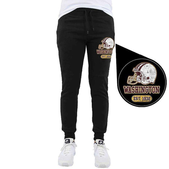 Men's Home Team Football Jogger Sweatpants-Washington - Black-M-Daily Steals