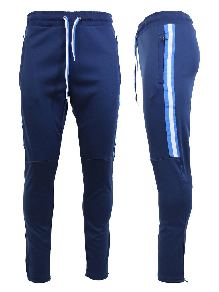 Daily Steals-Men's Moisture Wicking Active Joggers With Zipper Pockets-Men's Apparel-Navy-Small-