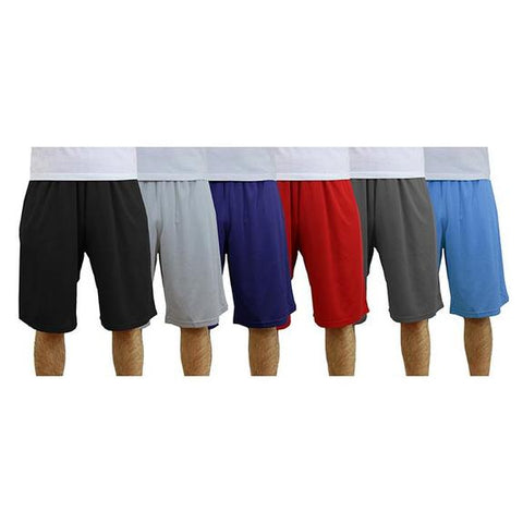 Daily Steals-Men's Moisture-Wicking Active Mesh Shorts - 3 Pack-Men's Apparel-Silver - Charcoal - Light Blue-Small-