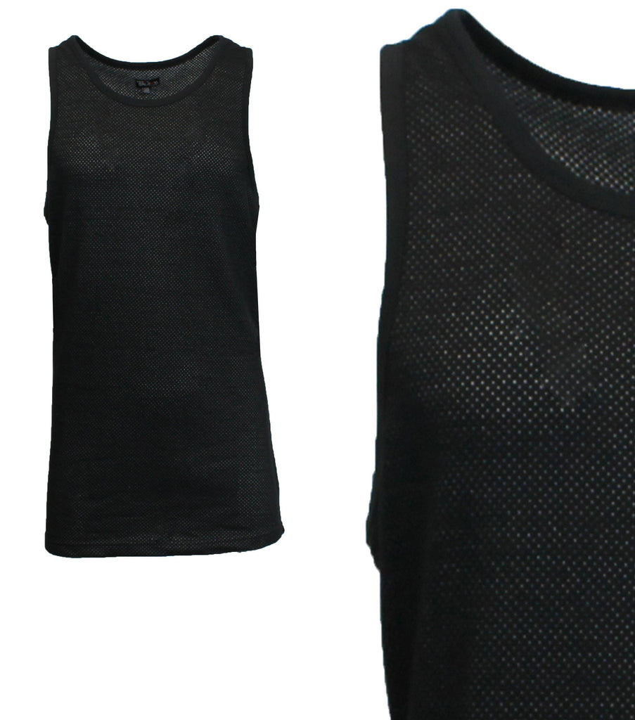 Daily Steals-Men's Moisture Wicking Cool Mesh Muscle Tank Tops-Men's Apparel-Black-Small-