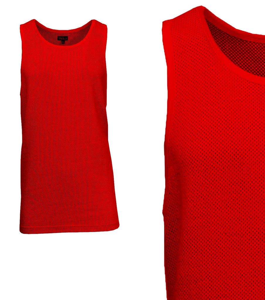 Daily Steals-Men's Moisture Wicking Cool Mesh Muscle Tank Tops-Men's Apparel-Red-Small-
