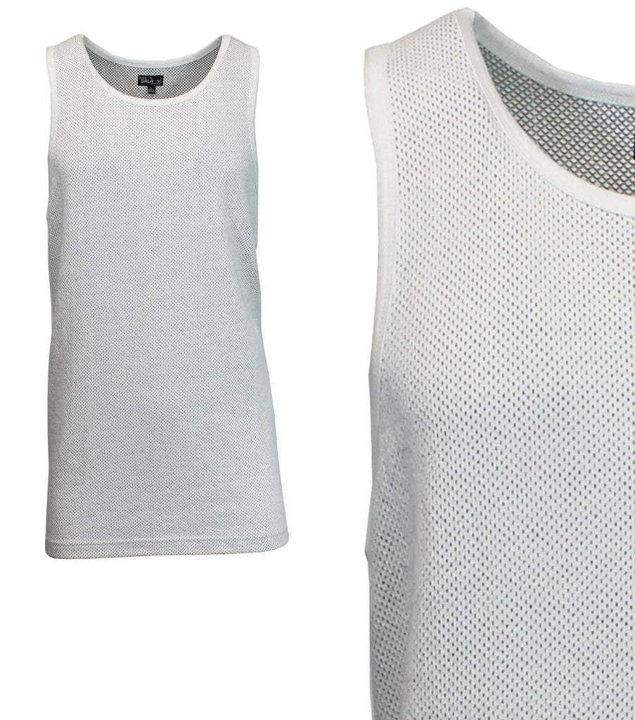 Daily Steals-Men's Moisture Wicking Cool Mesh Muscle Tank Tops-Men's Apparel-White-Small-