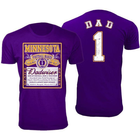 Men's Perfect Gift for Dad Dadwiser Football T-Shirts-XL-Minnesota-