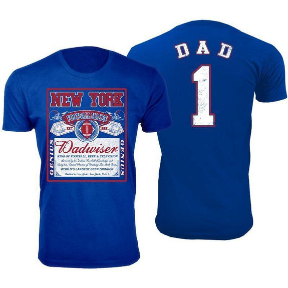 Men's Perfect Gift for Dad Dadwiser Football T-Shirts-L-New York-