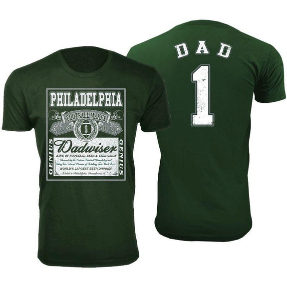 Men's Perfect Gift for Dad Dadwiser Football T-Shirts-L-Philadelphia-