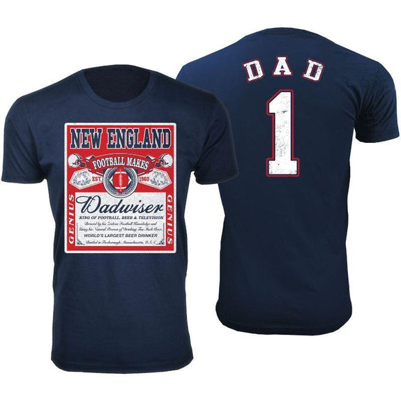 Men's Perfect Gift for Dad Dadwiser Football T-Shirts-L-New England-