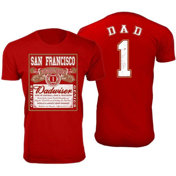 Men's Perfect Gift for Dad Dadwiser Football T-Shirts-XL-San Francisco-