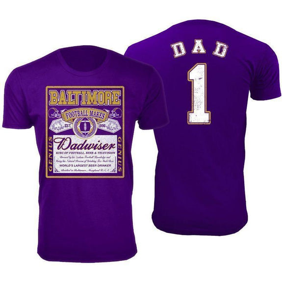 Men's Perfect Gift for Dad Dadwiser Football T-Shirts-M-Baltimore-