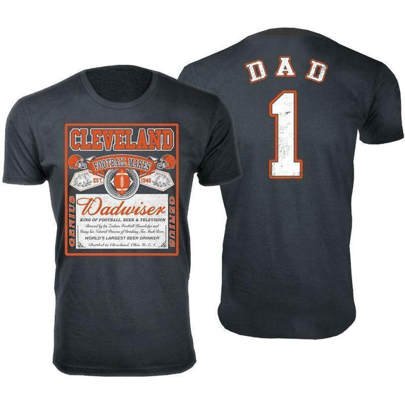 Men's Perfect Gift for Dad Dadwiser Football T-Shirts-L-Cleveland-