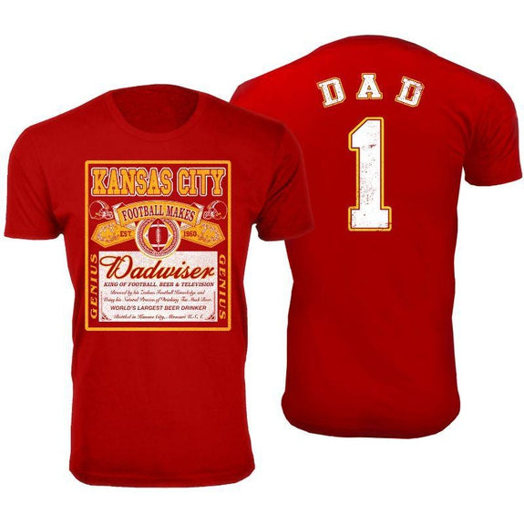 Men's Perfect Gift for Dad Dadwiser Football T-Shirts-3XL-Kansas City-