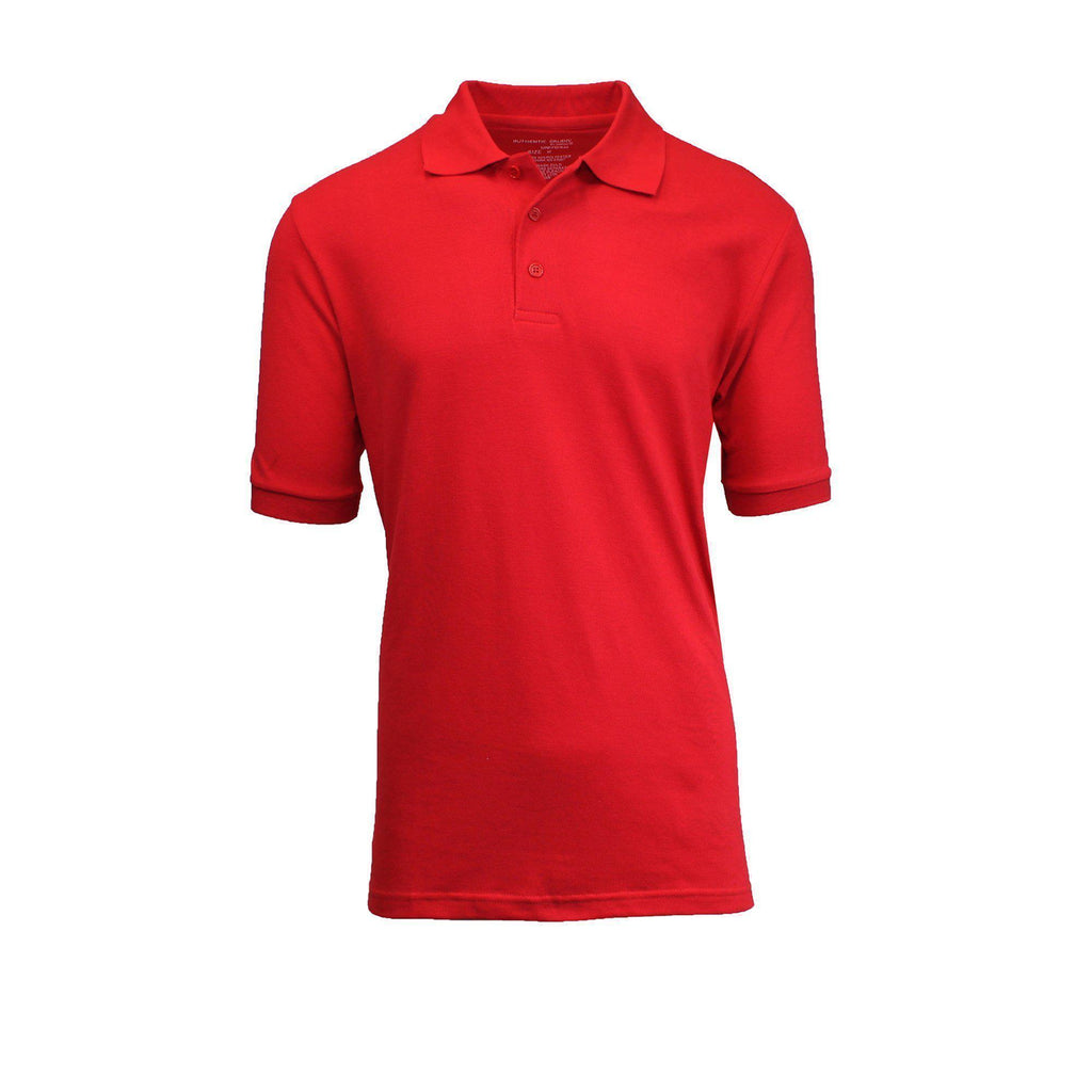 Daily Steals-Men's Pique Polos-Men's Apparel-Red-S-
