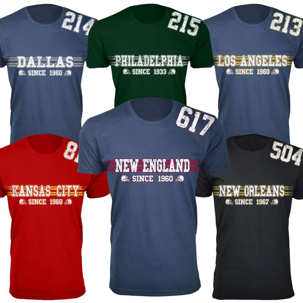 3X-Large-Men's Playoff Football T-shirts