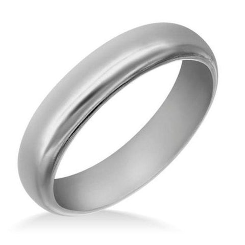 Men's Polished Tungsten Dome 6mm Ring-6-