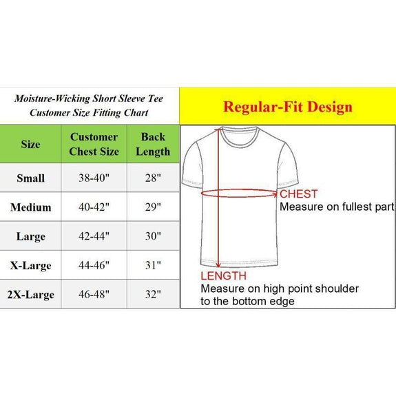 Men's Short Sleeve Moisture Wicking Performance Crew Neck Tee - 3 Pack-Black, Charcoal, Navy-XXL-