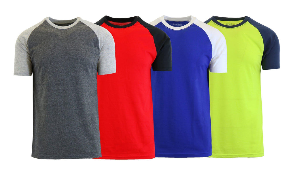 Daily Steals-Men's Short Sleeve Raglan Tees - 4 Pack-Men's Apparel-Multi-Small-