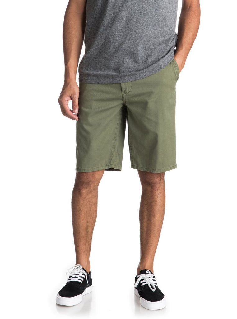 Daily Steals-Men's Shorts-Basic Four [4] Pocket Chino Slim Fit Style - Belt Included-Men's Apparel-Olive-38-