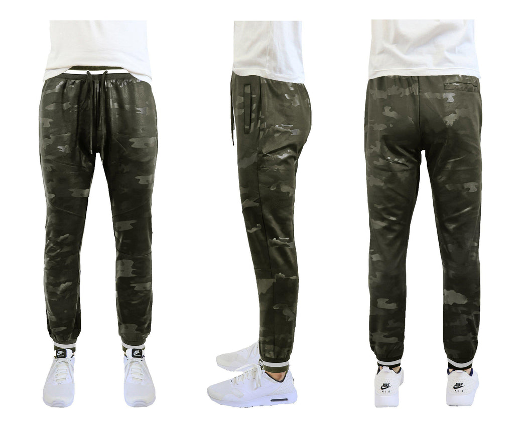 Daily Steals-Men's Slim Fit Camo Tech Stretch Joggers-Men's Apparel-Army Green-Small-