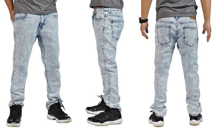 Daily Steals-Men's Slim Skinny Distress Denim Jeans-Men's Apparel-Acid-32x32-
