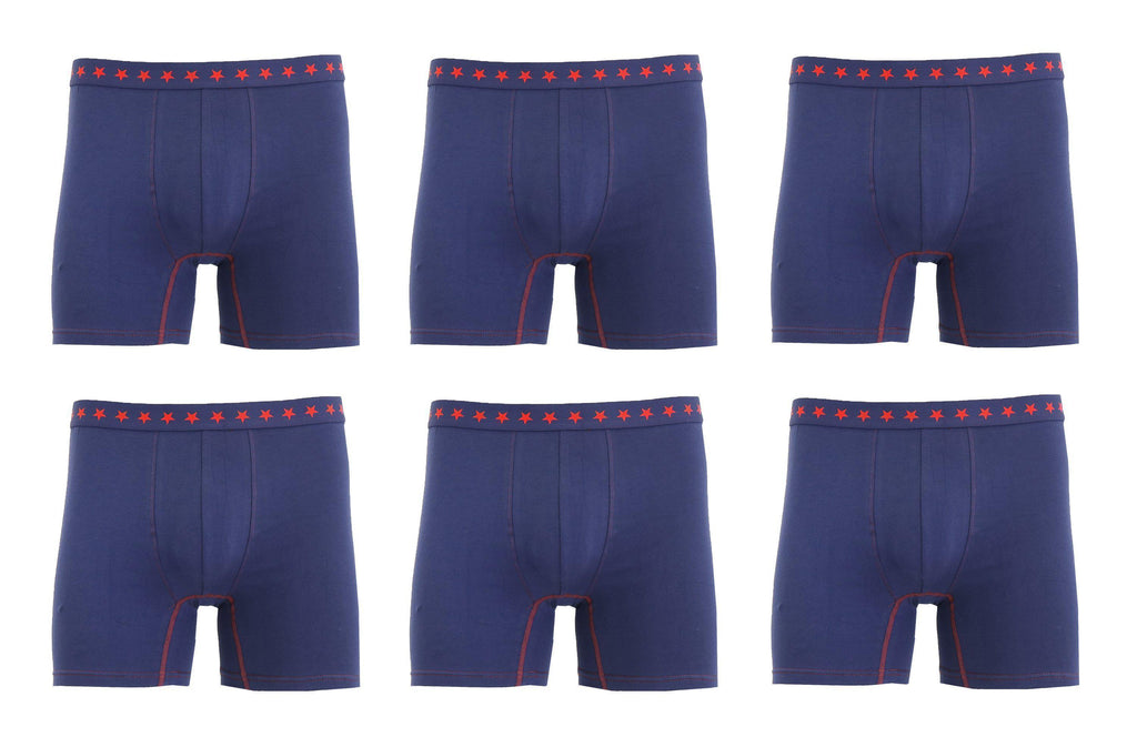 Daily Steals-Men's Soft Cotton Stretch Boxer Briefs - 6 Pack-Men's Apparel-Navy-S-