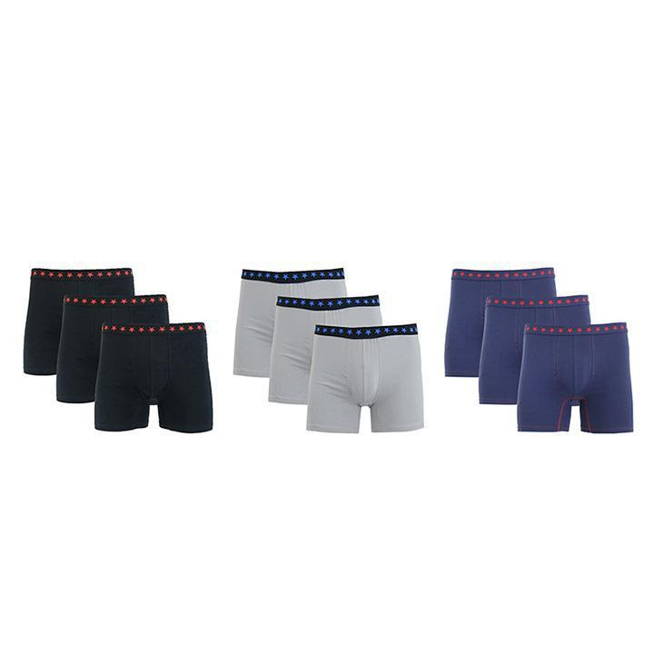Daily Steals-Men's Soft Cotton Stretch Boxer Briefs - 6 Pack-Men's Apparel-Black-S-