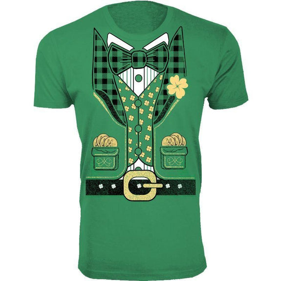Men's St. Patrick's Day Lucky T-Shirts-Leprechaun Suit -Green-S-Daily Steals
