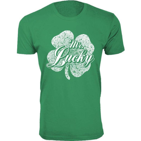 Men's St. Patrick's Day Lucky T-Shirts-Mr. Lucky - Green-XL-Daily Steals