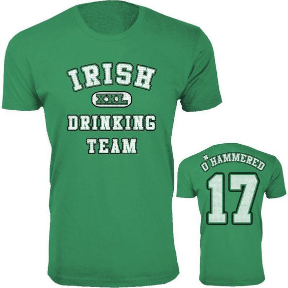 Men's St. Patrick's Day Lucky T-Shirts-O' Hammered - Green-M-Daily Steals