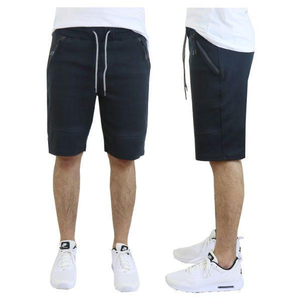 Daily Steals-Men's Tech Fleece Shorts With Zipper Pockets-Men's Apparel-Small-Classic Black-