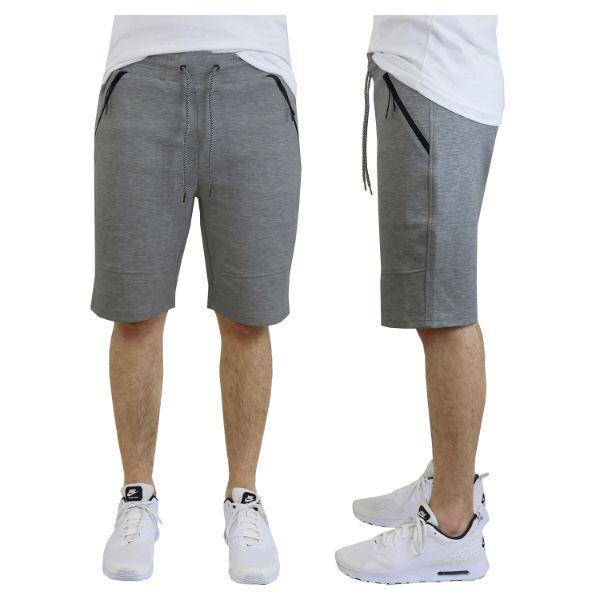 Daily Steals-Men's Tech Fleece Shorts With Zipper Pockets-Men's Apparel-Small-Classic Dark Grey-